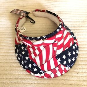 Accessories - Flag Visor Hat Fourth of July